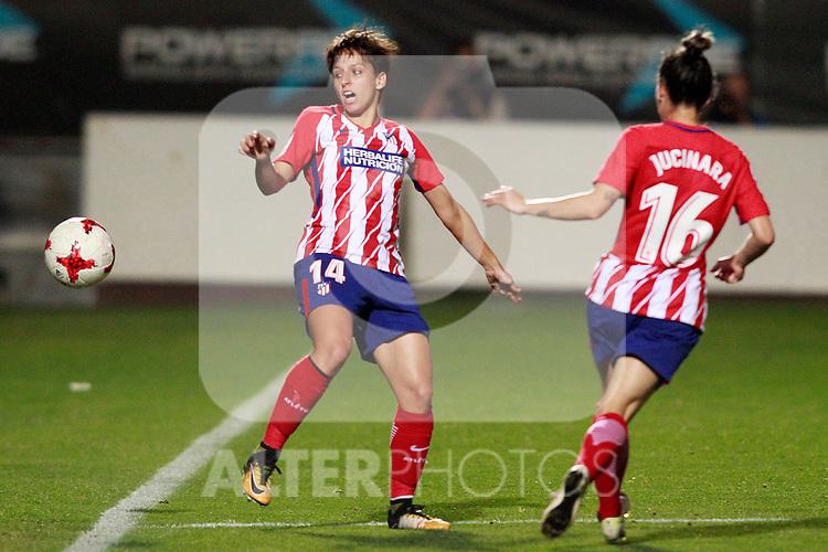Atletico de Madrid's Marta Corredera (l) and Jucimara Thais Soares Paz during UEFA Womens Champions League 2017/2018, 1/16 Final, 1st match. October 4,2017. (ALTERPHOTOS/Acero)