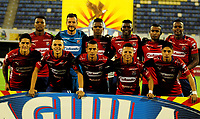 BARRANCABERMEJA- COLOMBIA, 27-04-2019: Jugadores de Deportivo Independiente Medellín, posan para una foto, antes partido Alianza Petrolera y Deportivo Independiente Medellín, de la fecha 18 por la Liga Águila I 2019 en el estadio Daniel Villa Zapata en la ciudad de Barrancabermeja. / Players of Deportivo Independiente Medellín, pose for a photo, prior  a match between Alianza Petrolera and Deportivo Independiente Medellin, of the 18th date for the Aguila Leguaje I 2019 at the Daniel Villa Zapata stadium in Barrancabermeja city. Photo: VizzorImage  / José D. Martínez / Cont.