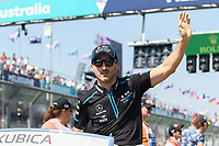 March 17, 2019: Robert Kubica (POL) #88 from the Williams Racing team waves to the crowd during the drivers parade prior to the start of the 2019 Australian Formula One Grand Prix at Albert Park, Melbourne, Australia. Photo Sydney Low