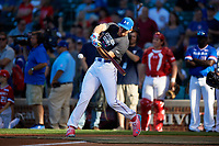 Triston Casas (26) of American Heritage High School in Pembroke Pines, Florida during the Home Run Derby before the Under Armour All-American Game presented by Baseball Factory on July 29, 2017 at Wrigley Field in Chicago, Illinois.  (Mike Janes/Four Seam Images)
