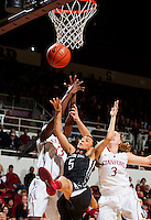 Stanford's Chiney Ogwumike, and Mikaela Ruef, during Stanford women's basketball  vs Washington State at Maples Pavilion, Stanford, California on March 1, 2014.