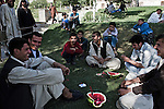 Kabulis seeking a respite from the heat and dust of the capital spend a Friday afternoon at Babur's Garden. The park - originially built by the Mughal Emperor Babur and later restored by the Agha Khan Foundation - is an oasis of green in the high dry city where families and young men come to picnic, socialize, and see and be seen....Kabul and Afghanistan's lone golf course near Lake Cargah is an oasis for the few Afghan and expatriate lovers of the game.  Summer 2010.