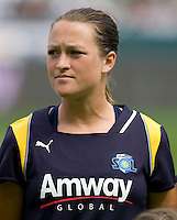 LA Sol midfielder Brittney Bock. The LA Sol defeated the Washington Freedom 2-0 in the opening game of Womens Professional Soccer at Home Depot Center stadium on Sunday March 29, 2009.  .Photo by Michael Janosz