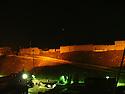 Iraq 2003 .View on the citadel of Erbil by night in summer.Irak 2003.Vue sur la citadelle d'Erbil ( Hawler ) la nuit