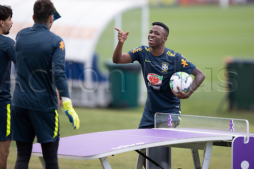 12th November 2020; Granja Comary, Teresopolis, Rio de Janeiro, Brazil; Qatar 2022 World Cup qualifiers; Vinicius Jr. of Brazil during training session