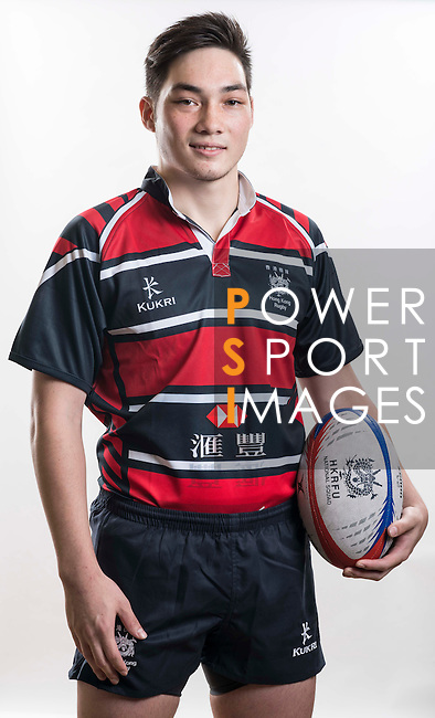 Hong Kong Junior Squad team member Calvin Hunter poses during the Official Photo Session Day at King's Park Sports Ground ahead the Junior World Rugby Tournament on 25 March 2014. Photo by Andy Jones / Power Sport Images