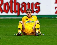 Alexander SCHWOLoew, goalkeeper SCF verletzungsbedingt dejected,   Fussball, 1. Bundesliga  2017/2018<br /> <br /> <br />  Football: Germany, 1. Bundesliga, SC Freiburg vs RB Leipzig, 20.01.2018. *** Local Caption *** © pixathlon