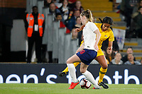 Mary Fowler of Australia Women takes on Keira Walsh of England Women during the Women's international friendly match between England Women and Australia at Craven Cottage, London, England on 9 October 2018. Photo by Carlton Myrie / PRiME Media Images.