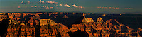 930000002 panoramic view of massive geological formations including wotans throne zoraster temple angels rest and budha temple seen from the north rim of the grand canyon in grand canyon national park arizona