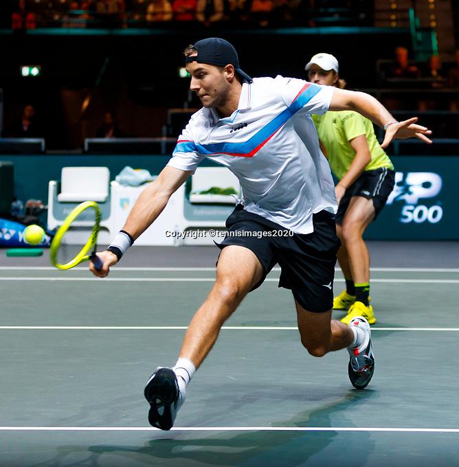 Rotterdam, The Netherlands, 15 Februari 2020, ABNAMRO World Tennis Tournament, Ahoy,<br /> Doubles: Henri Kontinen (FIN) and Jan-Lennard Struff (GER).<br /> Photo: www.tennisimages.com