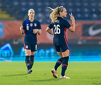 BREDA, NETHERLANDS - NOVEMBER 27: Jaelin Howell #26 of the USWNT walks onto the field during a game between Netherlands and USWNT at Rat Verlegh Stadion on November 27, 2020 in Breda, Netherlands.