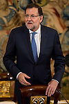 Prime Minister Mariano Rajoy during a royal audience with the board of the Carolina Fundation at Zarzuela Palace in Madrid, Spain. June 17, 2015.<br />  (ALTERPHOTOS/BorjaB.Hojas)