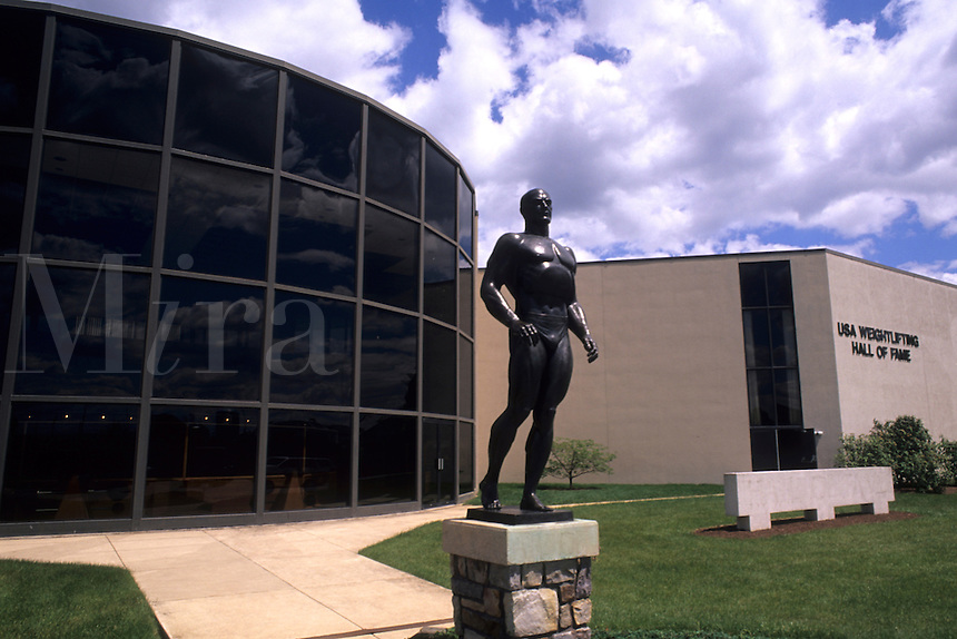 USA Weightlifting Hall of Fame in York Pennsylvania PA Statue of Charles Atlas.