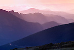 Sunrise over receeding images, Tombstone Ridge, Rocky Mtn Nat'l Park, CO