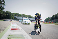 Michael Hepburn (AUS/Orica-Scott) out on the Autodromo Nazionale (Monza Race Circuit) for the closing time trial into Milano<br /> <br /> stage 21: Monza - Milano (29km)<br /> 100th Giro d'Italia 2017