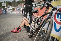 Corne Van Kessel (NED/Telenet-Fidea) post-race<br /> <br /> Brico-cross Geraardsbergen 2016