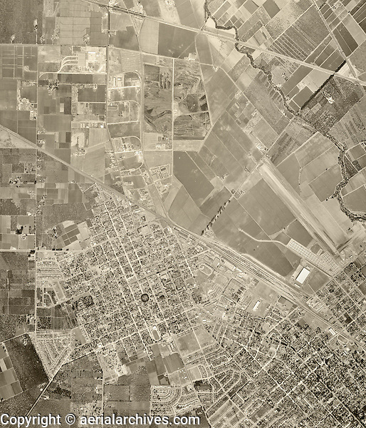 historical aerial photograph Santa Clara, California, 1948