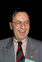 Montreal (QC) CANADA - File Photo - 1996 -<br /> <br /> Andre Boulerice, Parti Quebecois MNA for Sainte-Marie-Saint-Jacques in Montreal.<br /> <br /> <br /> Andr» Boulerice (born May 8, 1946 in Joliette, Quebec) is a Qu»b»cois politician and gay rights activist. He was a member of the National Assembly of Quebec for the riding of Sainte-MarieÛSaint-Jacques in Montreal.<br /> <br /> Born in Joliette, he graduated in specialized education from C»gep du Vieux Montr»al. He joined the Parti Qu»b»cois in 1970 and later worked for the Chambly school board.<br /> <br /> He was elected in the Sainte-MarieÛSaint-Jacques riding in 1989, formerly under Claude Charron. Boulerice was reelected in 1994, 1998 and 2003. He was also the assistant leader in the government, president of the Quebec division of the Assembl»e parlementaire de la Francophonie and Quebec immigration minister. He helped introduce civil union for same-sex couples. Boulerice resigned in September 2005.