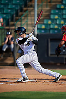 Jackson Generals Renae Martinez (4) at bat during a Southern League game against the Mississippi Braves on July 23, 2019 at The Ballpark at Jackson in Jackson, Tennessee.  Jackson defeated Mississippi 2-0 in the first game of a doubleheader.  (Mike Janes/Four Seam Images)