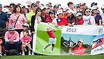 TAOYUAN, TAIWAN - OCTOBER 28:  Yani Tseng' supporters watch the match on the 2nd hole during the day four of the Sunrise LPGA Taiwan Championship at the Sunrise Golf Course on October 28, 2012 in Taoyuan, Taiwan.  Photo by Victor Fraile / The Power of Sport Images