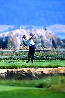 Nick Faldo of England teess 2000 US Open Golf at Pebble Beach