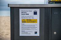 BNPS.co.uk (01202 558833)<br /> Pic: MaxWillcock/BNPS<br /> <br /> Pictured: Information on an electric beach barbecue at Branksome Chine beach near Bournemouth in Dorset.<br /> <br /> A council that spent over £106,000 on installing communal barbecues on a seafront promenade had to close them over cleanliness issues. <br /> <br /> The electric cooking stations were opened to great fanfare two weeks ago by officials in Bournemouth, Dorset.<br /> <br /> Users are meant to clean up the grills after they have finished with them but most people aren't bothering.