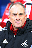 Swansea City Head Coach Francesco Guidolin picture in the dugout ahead of the Barclays Premier League match between Everton and Swansea City played at Goodison Park, Liverpool