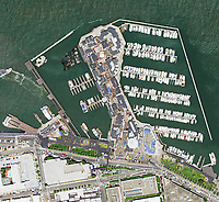 aerial photo map of Fisherman's Wharf, San Francisco, California