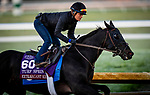 October 31, 2020: Extravagant Kid, trained by trainer Brendan P. Walsh, exercises in preparation for the Breeders' Cup Turf Sprint at Keeneland Racetrack in Lexington, Kentucky on October 31, 2020. Alex Evers/Eclipse Sportswire/Breeders Cup