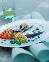 Gastronomie/Sardines, palourdes et légumes au vinaigre celtique recette d'Olivier Roellinger  à Cancale