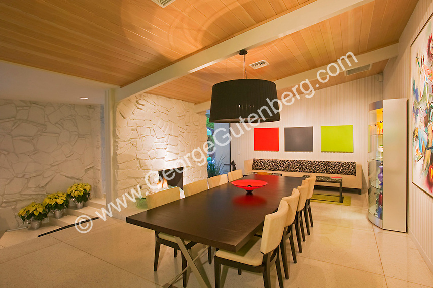 Stock photo of 50's Palm Springs dining room