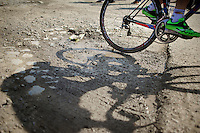 shabby road conditions are always an integral part of the iconic race<br /> <br /> 113th Paris-Roubaix 2015