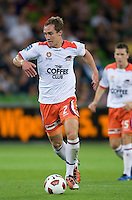 MELBOURNE, AUSTRALIA - DECEMBER 03: Matthew Smith of the Roar controls the ball during the round 17 A-League match between the Melbourne Victory and the Brisbane Roar at AAMI Park on December 3, 2010 in Melbourne, Australia. (Photo by Sydney Low / Asterisk Images)