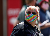 29th May 2021; Twickenham Stoop, London, England; English Premiership Rugby, Harlequins versus Bath; Quins supporters in the glorious sunshine