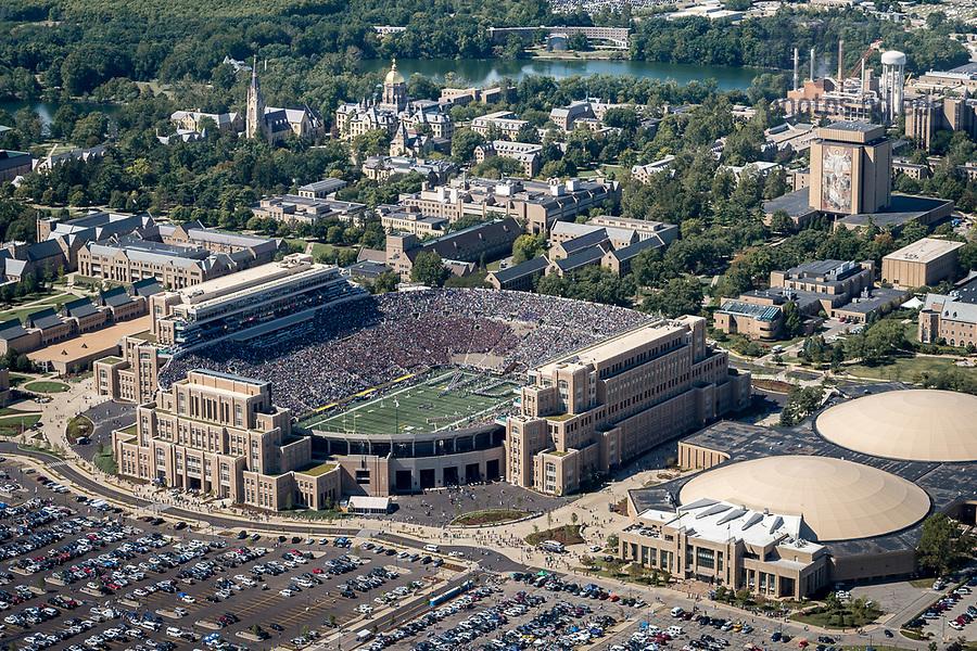 September 2, 2017; Notre Dame Stadium on a game day. (Photo by Matt Cashore/University of Notre Dame)