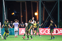 LAKE BUENA VISTA, FL - AUGUST 11: Portland Timbers celebrate winning the MLS is Back Tournament after a game between Orlando City SC and Portland Timbers at ESPN Wide World of Sports on August 11, 2020 in Lake Buena Vista, Florida.