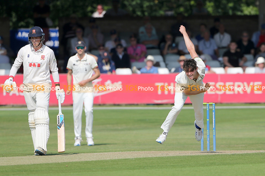 Tom Price in bowling action for Gloucestershire during Essex CCC vs Gloucestershire CCC, LV Insurance County Championship Division 2 Cricket at The Cloudfm County Ground on 5th September 2021