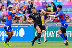 Tone Ng Shiu of New Zealand (C) runs with the ball during the HSBC Hong Kong Sevens 2018 match between New Zealand and Samoa on April 7, 2018 in Hong Kong, Hong Kong. Photo by Marcio Rodrigo Machado / Power Sport Images