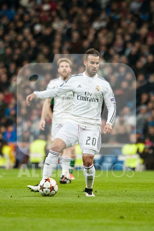 Jesé of Real Madrid during Champions League match between Real Madrid and Ludogorets at Santiago Bernabeu Stadium in Madrid, Spain. December 09, 2014. (ALTERPHOTOS/Luis Fernandez)