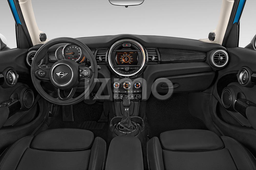 Stock photo of straight dashboard view of 2017 MINI Cooper S 5 Door Hatchback Dashboard