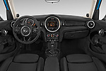 Stock photo of straight dashboard view of 2017 MINI Cooper S 5 Door Hatchback Dashboard