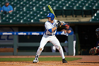 Chris Proctor (23) of the Duke Blue Devils at bat against the Virginia Cavaliers in Game Seven of the 2017 ACC Baseball Championship at Louisville Slugger Field on May 25, 2017 in Louisville, Kentucky. The Blue Devils defeated the Cavaliers 4-3. (Brian Westerholt/Four Seam Images)