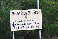 Mas de Perry, Mas Nicot, Guest rooms and tasting room. Mas de Perry, Mas Nicot. Terrasses de Larzac. Languedoc. France. Europe.