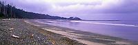 Haida Gwaii (Queen Charlotte Islands), Northern BC, British Columbia, Canada - Agate Beach and Yakan Point along McIntyre Bay, Naikoon Provincial Park, Graham Island - Panoramic View
