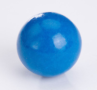 Single large blue bubble gum bal