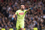 Goalkeeper Pepe Reina of SSC Napoli during the match Real Madrid vs Napoli, part of the 2016-17 UEFA Champions League Round of 16 at the Santiago Bernabeu Stadium on 15 February 2017 in Madrid, Spain. Photo by Diego Gonzalez Souto / Power Sport Images