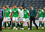 22.05.2021 Scottish Cup Final, St Johnstone v Hibs: Hibs players disconsolate