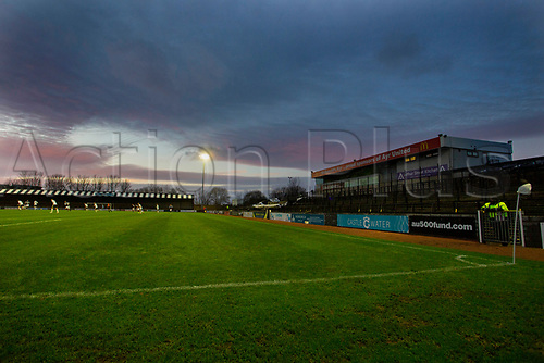 21st November 2020; Somerset Park, Ayr, South Ayrshire, Scotland; Scottish Championship Football, Ayr United versus Dundee FC; Deserted terraces at Somerset Park as fans are still banned from matches in Scotland