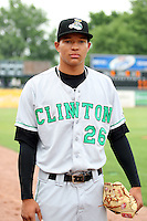 Clinton LumberKings pitcher Taijuan Walker (26) prior to a game against the Kane County Cougars at Elfstrom Stadium on June 17, 2011 in Geneva, Illinois.  Kane County defeated Clinton 1-0.  (Chris Proctor/Four Seam Images)