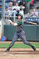 Charlie White #5 of the Boise Hawks bats against the Everett AquaSox at Everett Memorial Stadium on July 22, 2014 in Everett, Washington. Everett defeated Boise, 6-0. (Larry Goren/Four Seam Images)